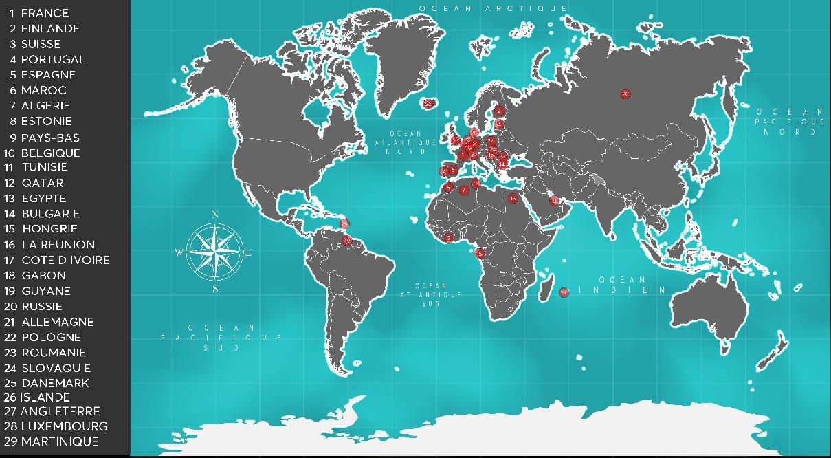 carte installation gaines monde